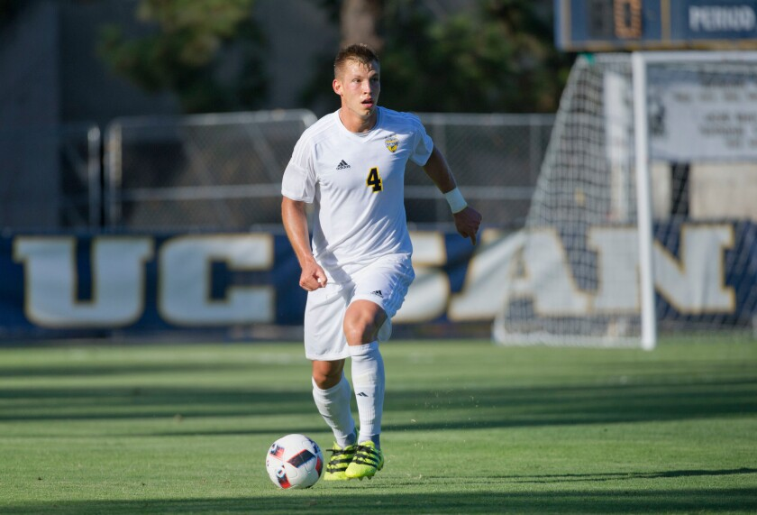 Kuba Waligorski, a Polish native, plays center back for UCSD's men's soccer team.
