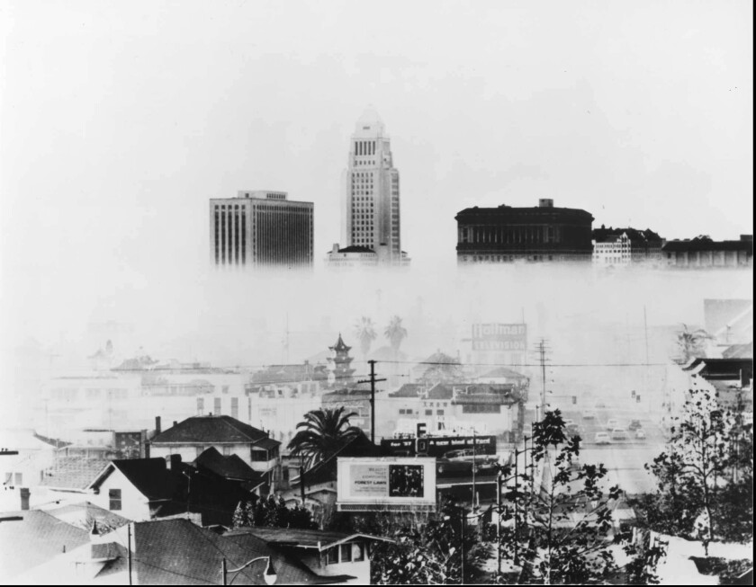 Los Angeles smog in 1956