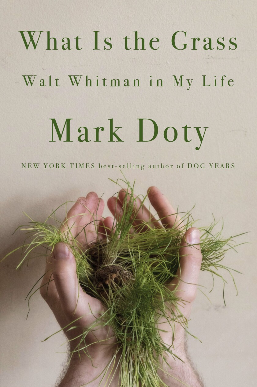 """A book jacket for """"What is the Grass,"""" by Mark Doty. Credit: W. W. Norton & Company"""
