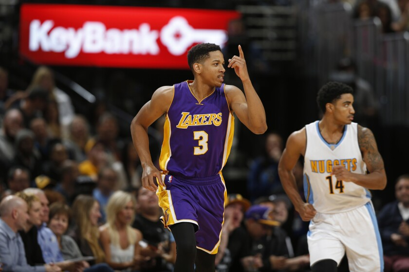 Anthony Brown was the Lakers' second-round pick in 2015 and averaged 8.3 minutes per game in the preseason.