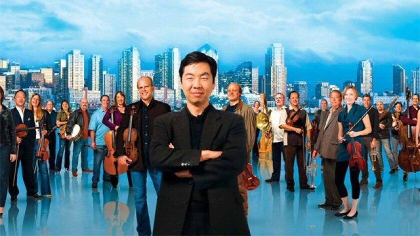 Conductor Jung-Ho Pak with the musicians of Orchestra Nova. Photo: Orchestra Nova