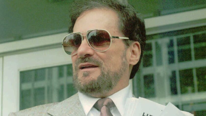 Tony Alamo appears outside federal court in Memphis in 1993.