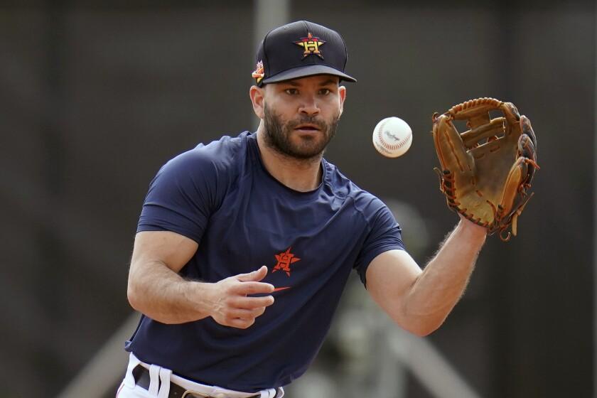 Astros infielder Jose Altuve