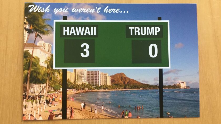 President Trump arrives in Honolulu on Friday.