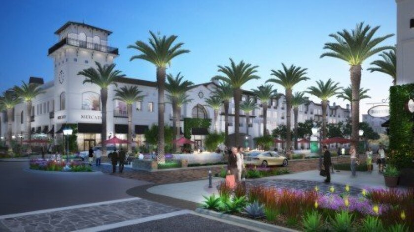 A recently released new rendering of the Town Square at Village at Pacific Highlands Ranch. Courtesy photo