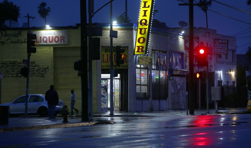 Figueroa Street in South Los Angeles, a known area of prostitution.