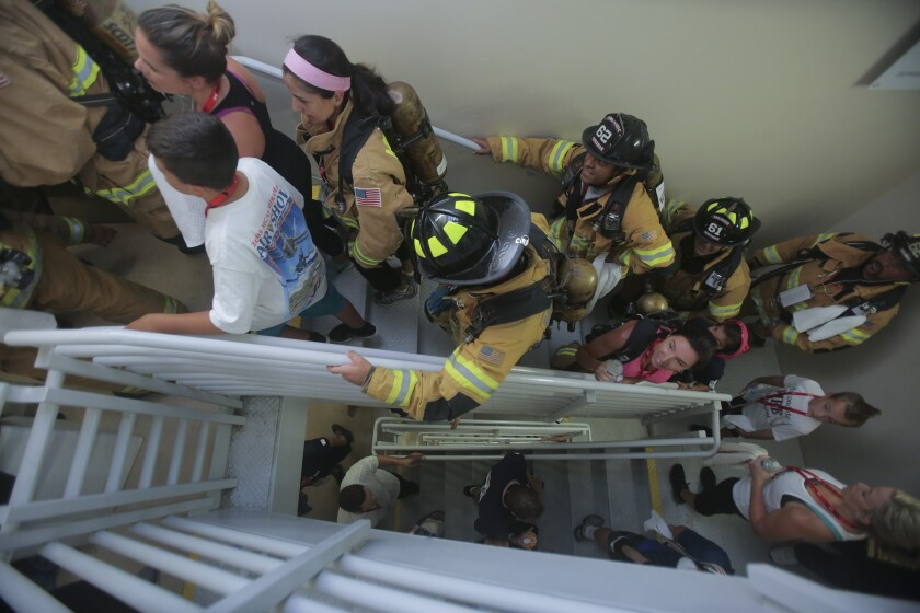 A photo of 9/11 Memorial Stair Climb