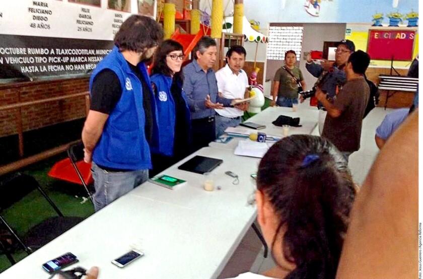 Personal de la ONU se reunió el pasado viernes con familiares de personas desaparecidas de Chilapa.