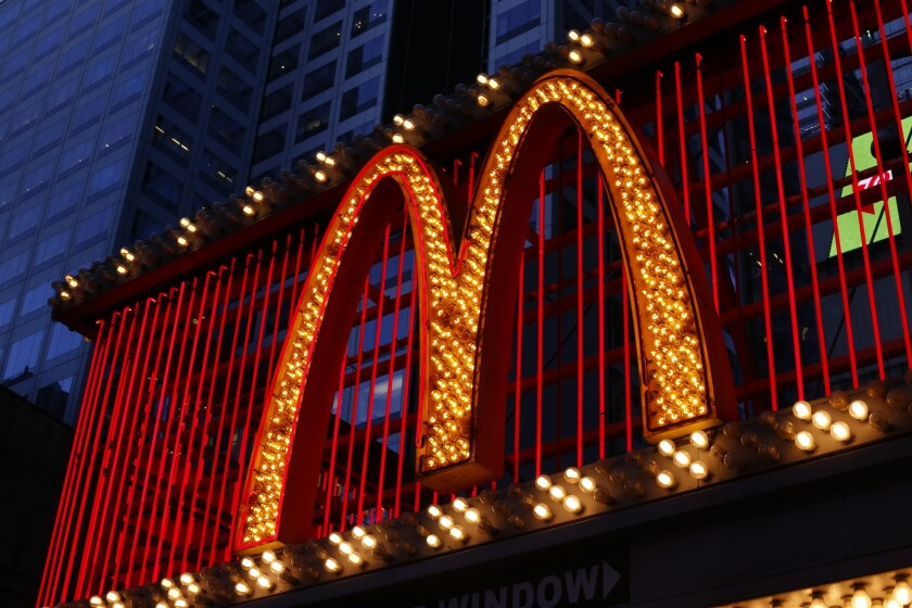 The McDonald's restaurant on 42nd Street near Times Square in New York on Jan. 10.