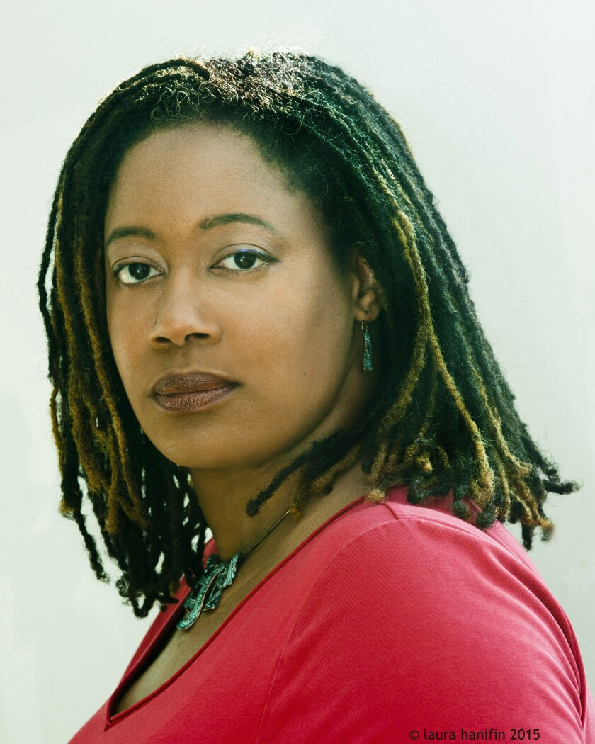 """N.K. Jemison, whose novel """"The City We Became"""" makes New York a living being whose avatars fight aliens and racism."""