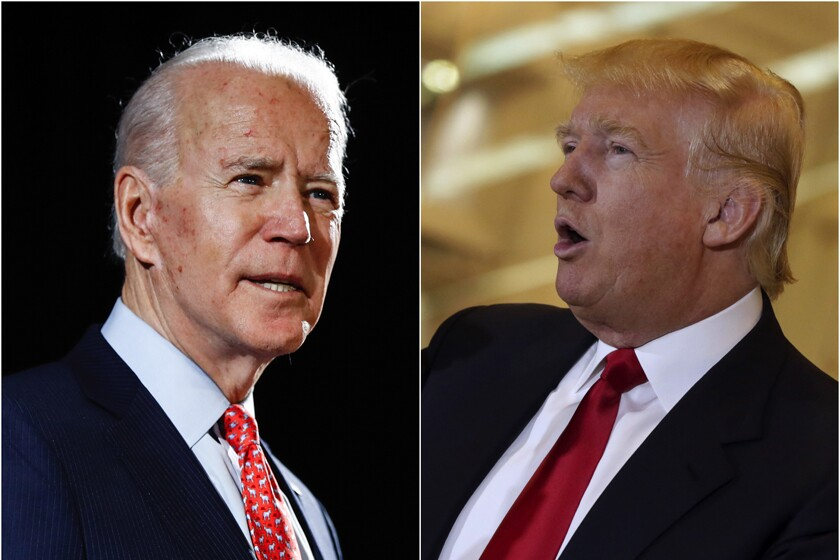 President Joe Biden and former President Trump.