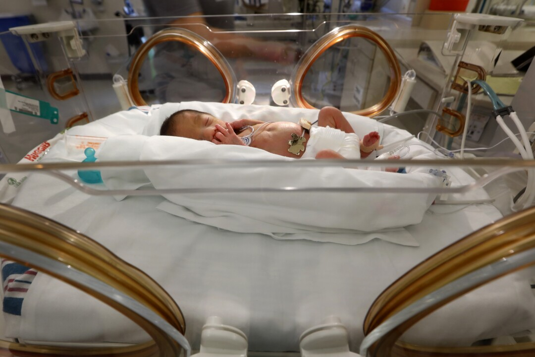 David Alejandro Vega is being treated in the neonatal intensive care unit at Doctors Hospital at Renaissance.