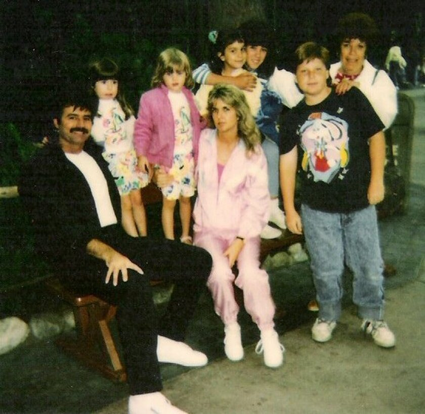 Carl Fuerst (left) and Cathy Paternoster (center) were both shot in 1989. Fuerst survived his wounds, but his girlfriend, Paternoster, did not.  <em>    San Bernardino County Sheriff-Coroner Department  </em>