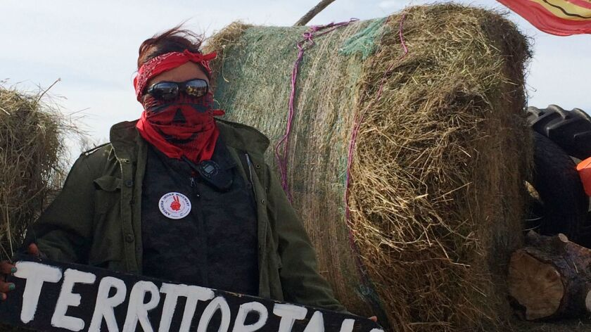 Vanessa Dundon in October at the Dakota Access oil pipeline protest.