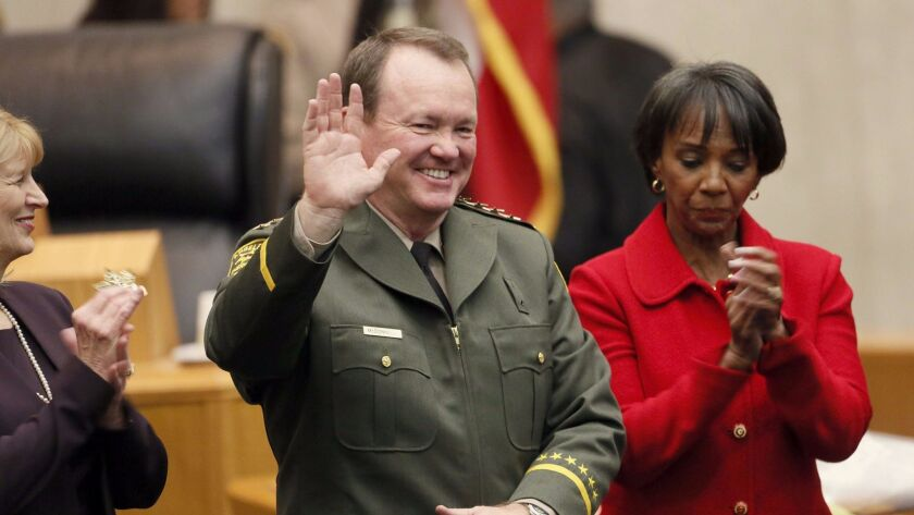 The court battle over the list of sheriff's deputies came as L.A. County Dist. Atty. Jackie Lacey, r