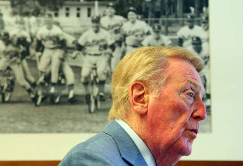 Vin Scully is the third-greatest Dodger of all time.