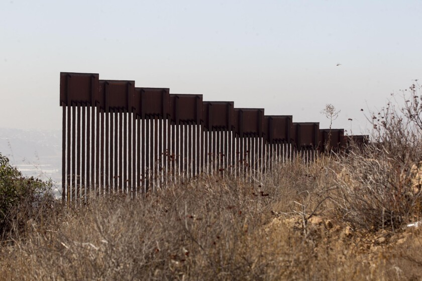 Bollards that are 30 feet tall are being installed near Campo along the U.S.-Mexico border.