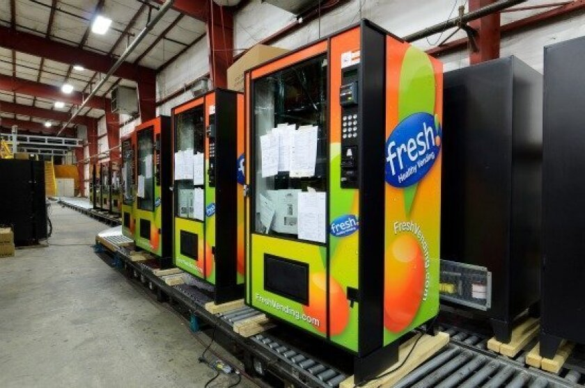 Fresh Healthy vending machines coming off the assembly line