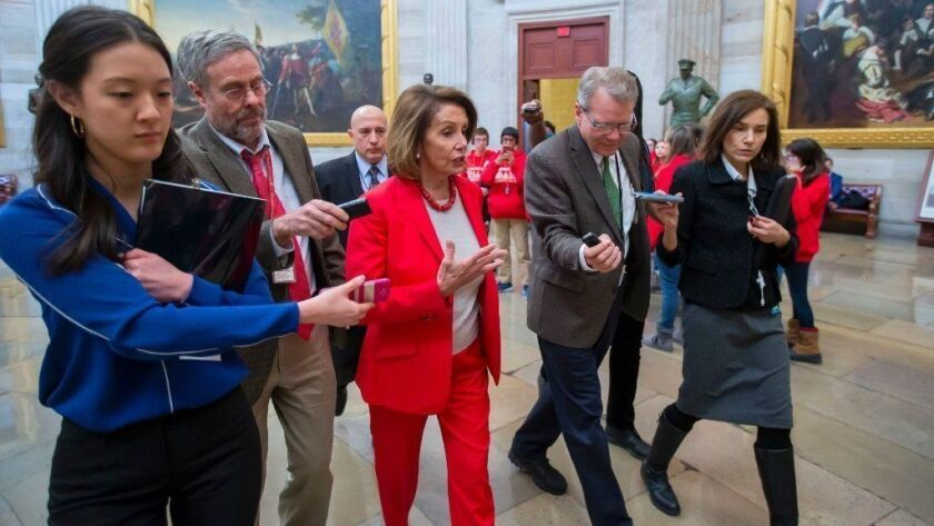 Speaker of the House Nancy Pelosi in Washington, DC, USA - 16 Jan 2019