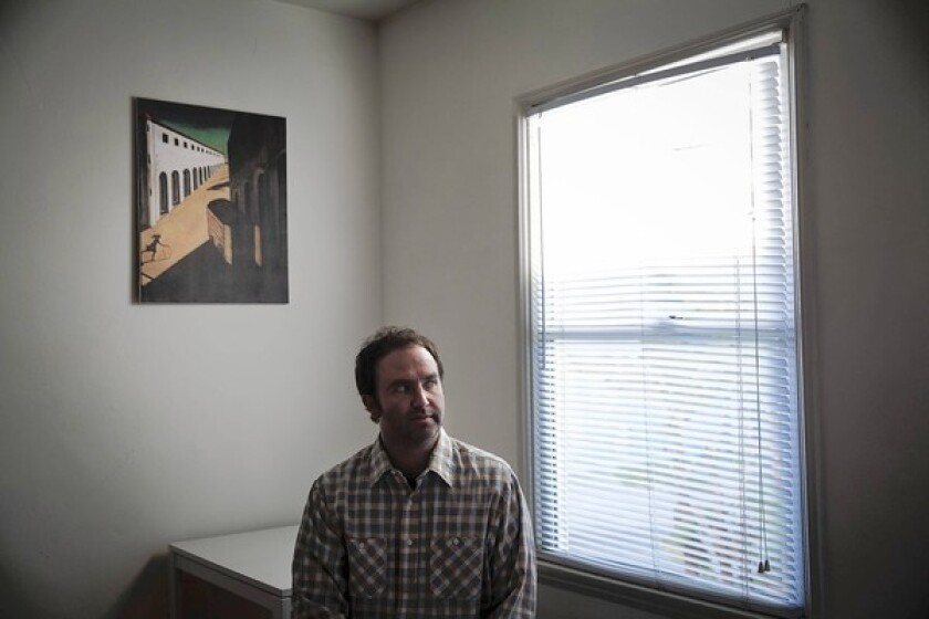 Fiction writer Jim Gavin in his Culver City home.