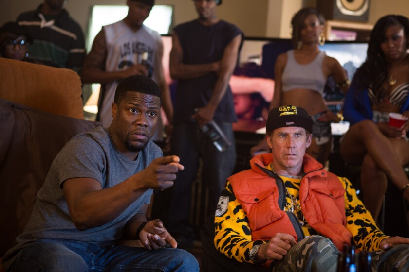 "Kevin Hart and Will Ferrell in ""Get Hard."""