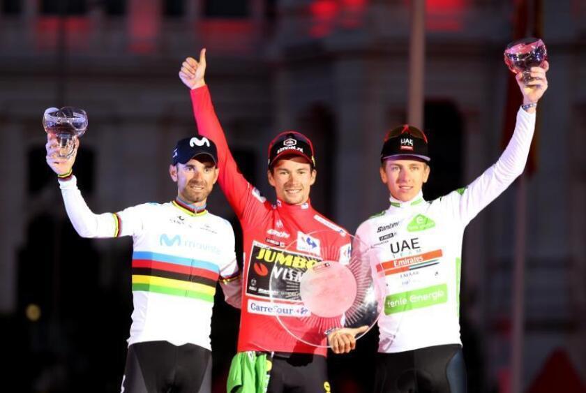 """Valverde:""""Estoy alucinado con el segundo puesto de la Vuelta"""""""