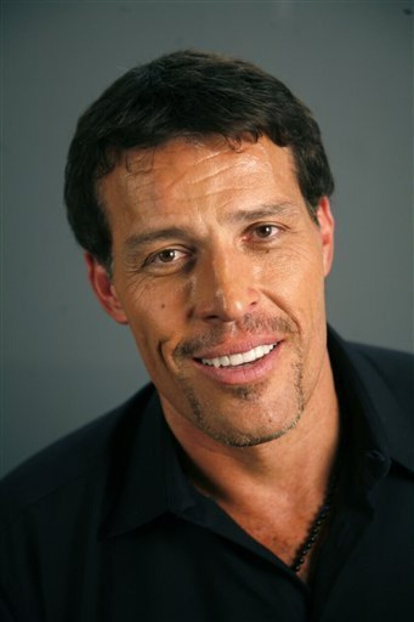 Tony Robbins poses for a portrait Monday, July 26, 2010 in New York. (AP Photo/Jeff Christensen)