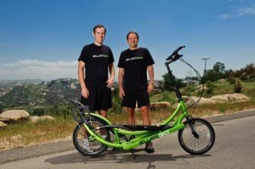 ElliptiGO founders Bryan Pate and Brent Teal. Courtesy photo