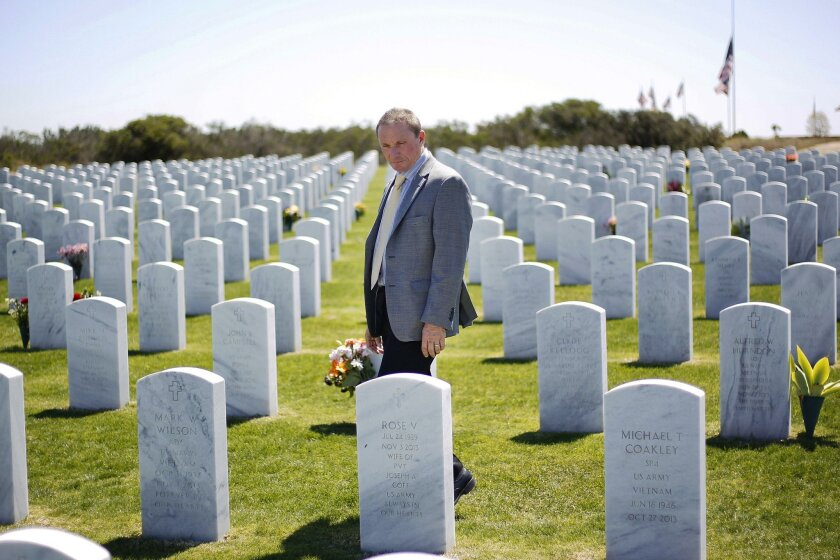 Rex Kern was recently named director of the Miramar and Fort Rosecrans national cemeteries.