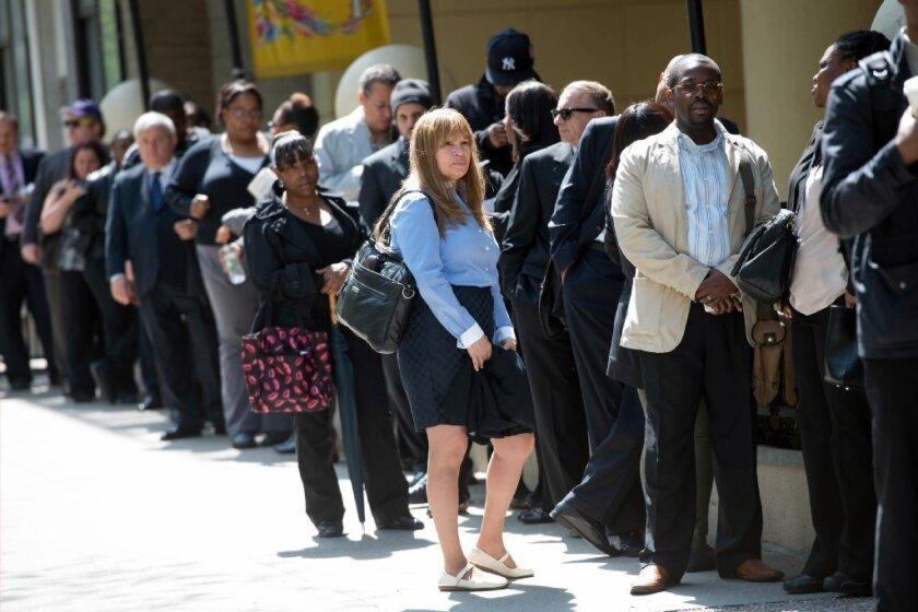 Job seekers in New York City