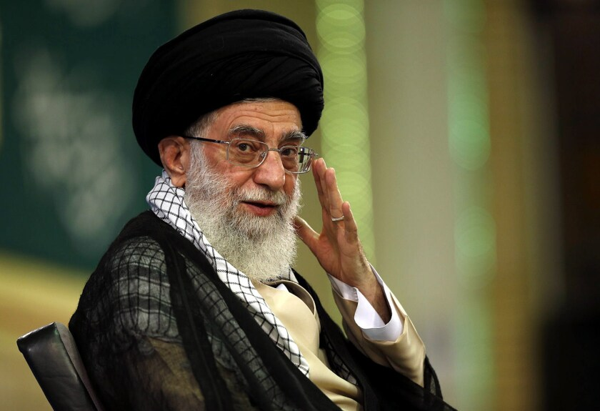 Iran's supreme leader, Ayatollah Ali Khamenei. Nuclear talks and the prospects of an accord conveniently shield Khamenei from censure.