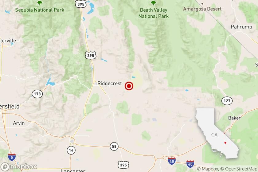 Magnitude 4.3 earthquake near Ridgcrest, Calif.
