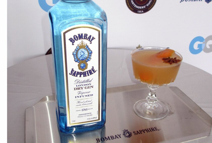 """The winning """"Star of India"""" cocktail."""