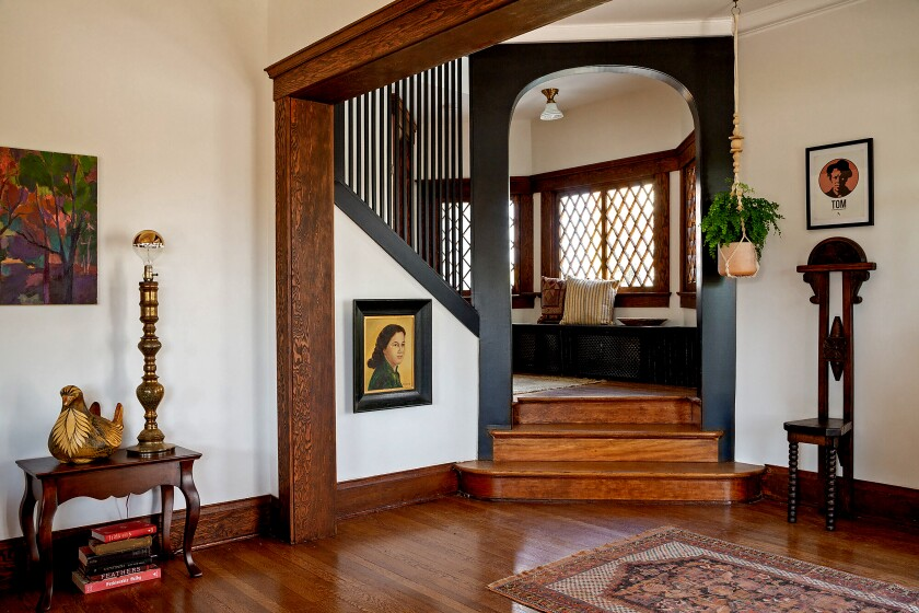 Our Home of the Week, an Angelino Heights Craftsman, retains its 115-year-old woodwork.