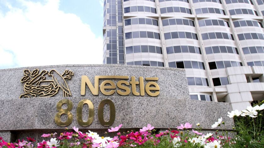 A coalition of organizations wants Nestle to stop bottling California's water, headquarters in Glend