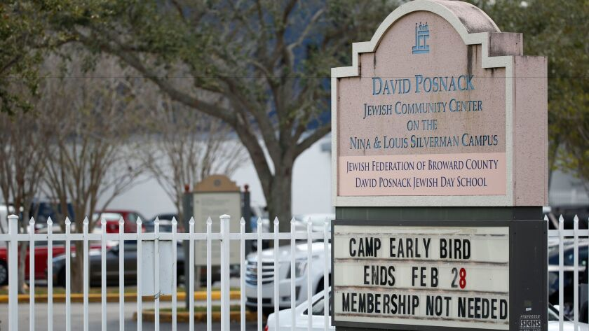 A bomb threat caused evacuations Monday of the David Posnack Jewish Community Center and David Posnack Jewish Day School in Davie, Fla.