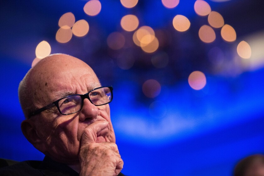 21st Century Fox is taking steps to have its stock removed from trading on the Australian Securities Exchange in Rupert Murdoch's native country. Above, Murdoch, the company's chairman and chief executive, attends the Wall Street Journal CEO Council annual meeting in Washington.