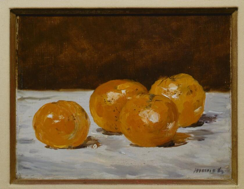 """Four Mandarin Oranges,"" about 1882, by Edouard Manet."
