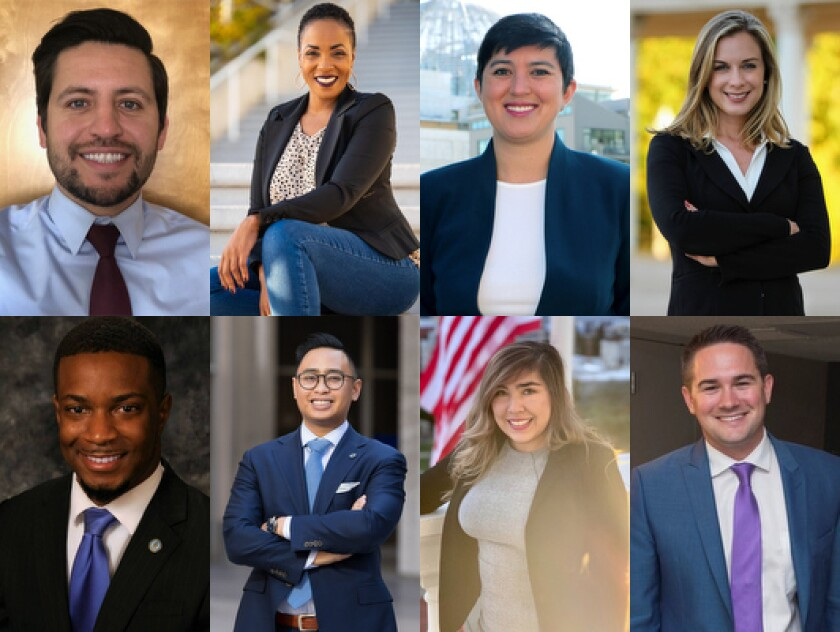 Todd Gloria announced his eight most recent staff hires, pictured here, reflect San Diego's diversity