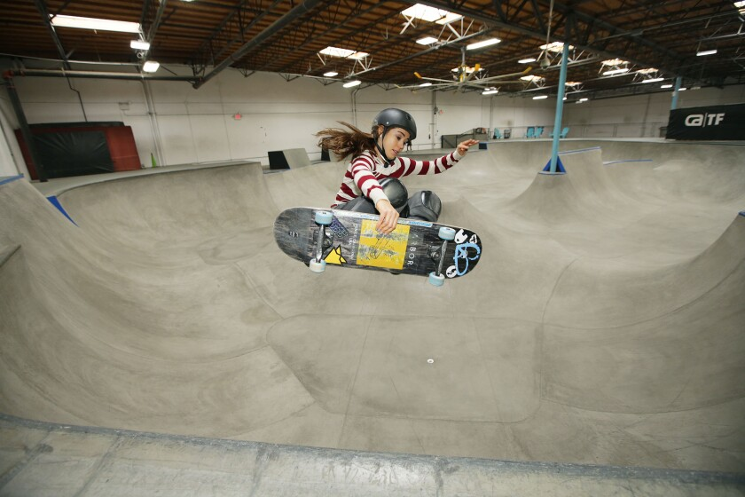 Amelia Brodka of Vista will represent Poland in the skateboarding park division at the Olympics.