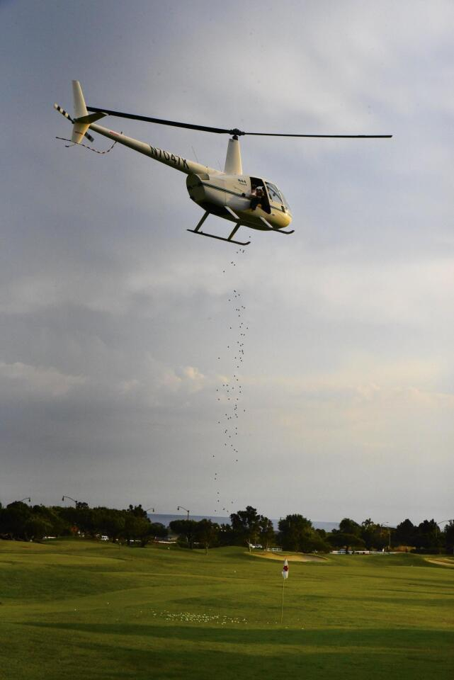 Encinitas Coastal Rotary Helicopter Golf Ball Drop