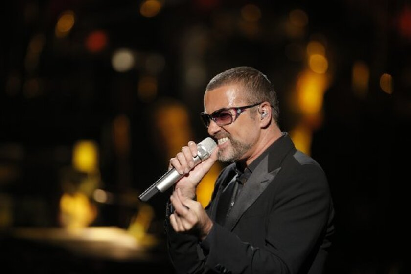 George Michael was involved in a car crash in London.