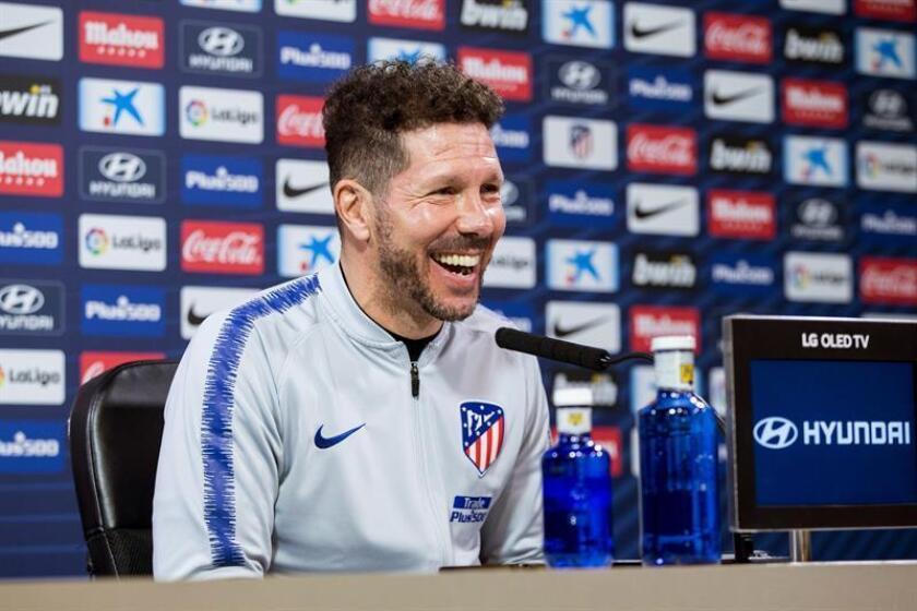 El técnico argentino del Atlético de Madrid, Diego Simeone. EFE/Archivo