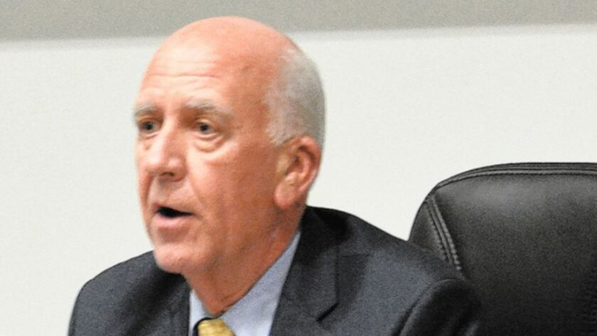 Supt. John Collins was fired by the Poway Unified School Board on July 10, 2016.