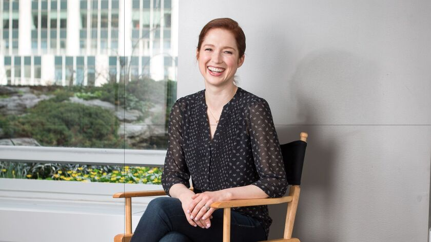 NEW YORK -- APRIL 10, 2017: Ellie Kemper, actress, comedian, and writer, sits for a portrait at 30
