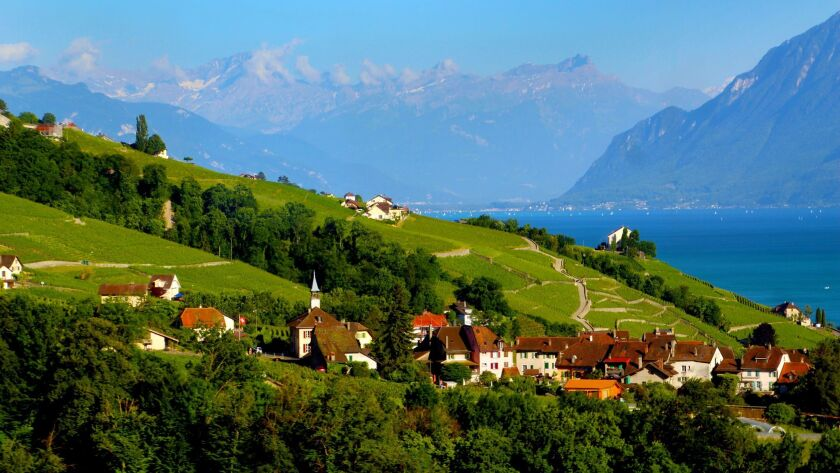 Astonishing natural beauty surrounds the Lake Geneva Region of Switzerland. Credit: Joanne and Tony