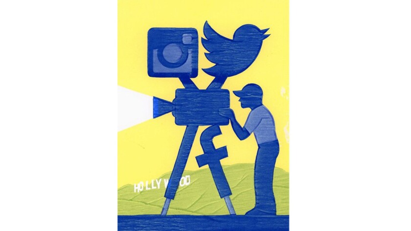 Social media in film illustration