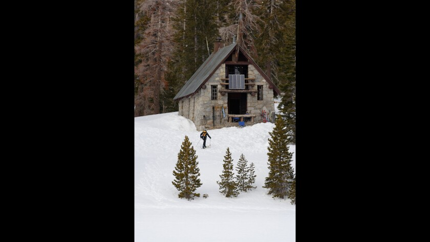 Ostrander Ski Hut was built by the Civilian Conservation Corps in 1941.