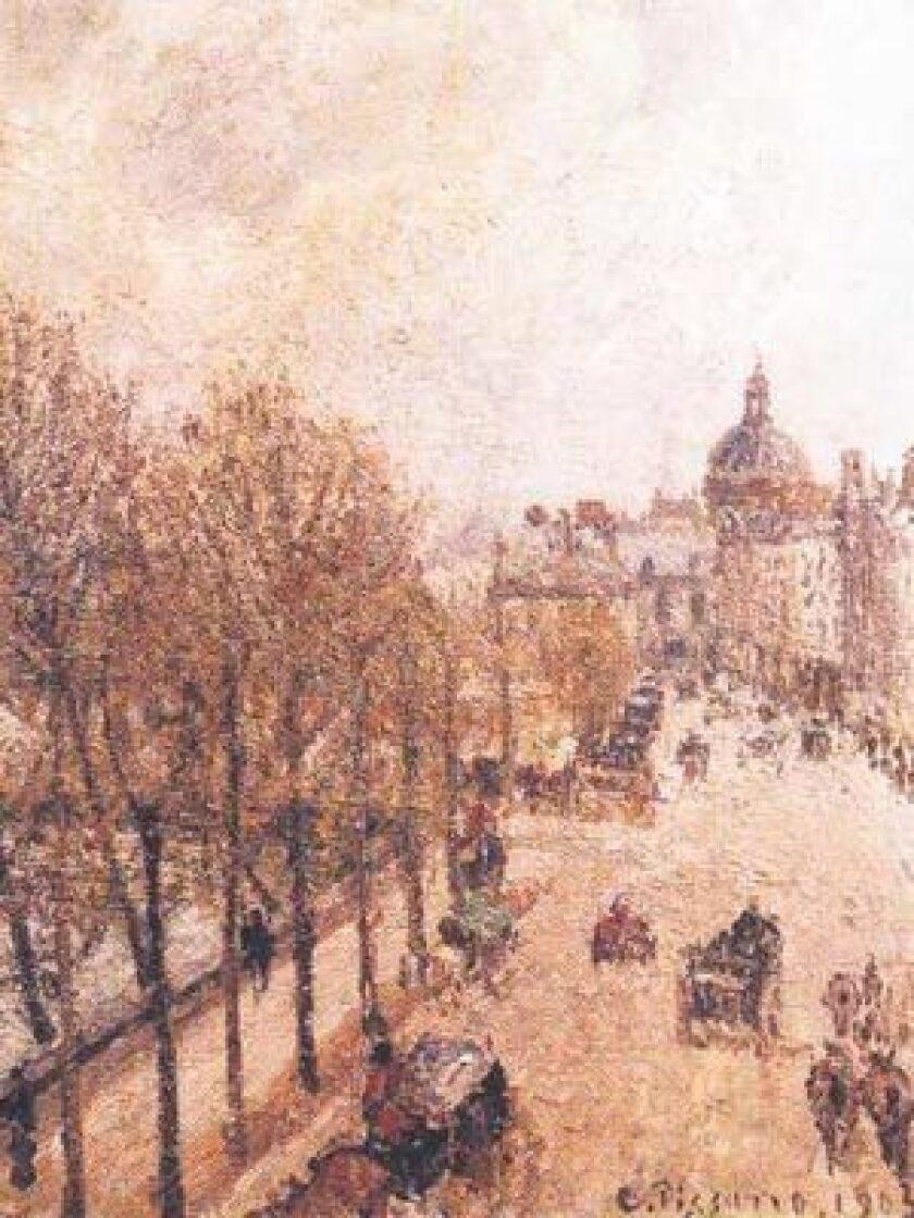 "This picturesque artwork, Camille Pissarro's ""Le Quai Malaquais, Printemps,"" is at the center of a nasty dispute."