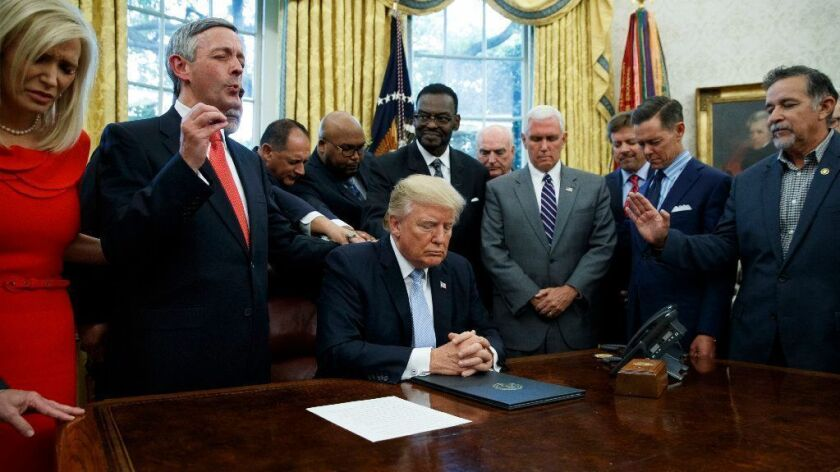 Donald Trump with religious leaders